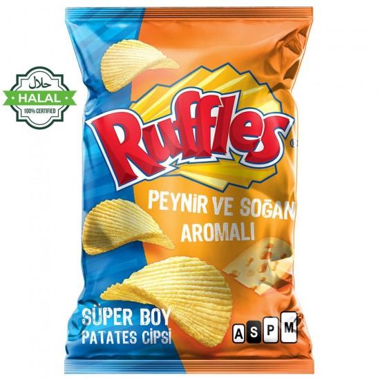 Ruffles Potato Chips Onion & Cheese - From Turkey Halal (106 gr)