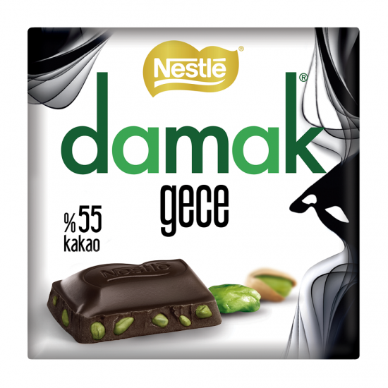 Nestle Damak Dark Bitter Chocolate with Pistachio (65 gr)