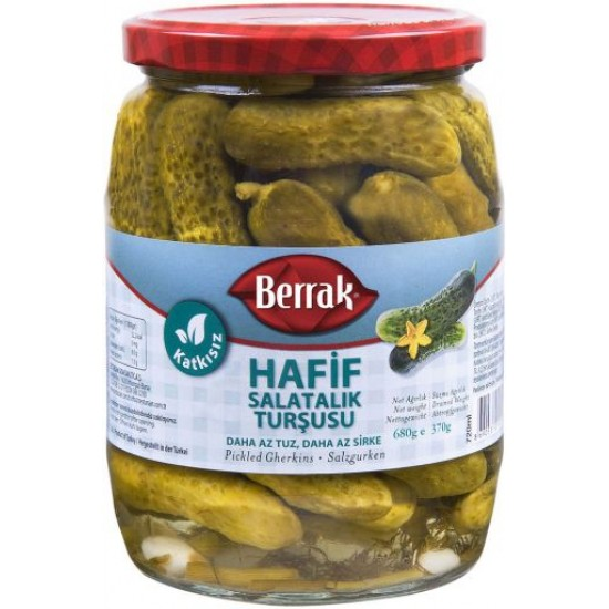 Berrak Gherkin Diet Pickles (720 ml)
