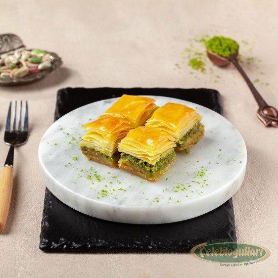 Gluten Free Baklava with Pistachio  From Gaziantep Celebiogullari (500 gr)