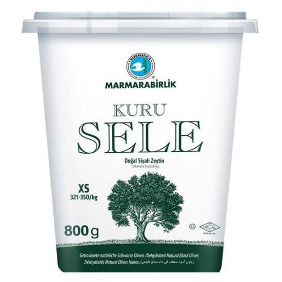 Marmarabirlik Gemlik Sele Dried Black Olive Mega (800 gr)