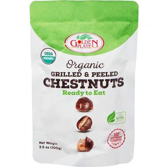 Golden Plate Organic Grilled Peeled Chestnut (100 gr)