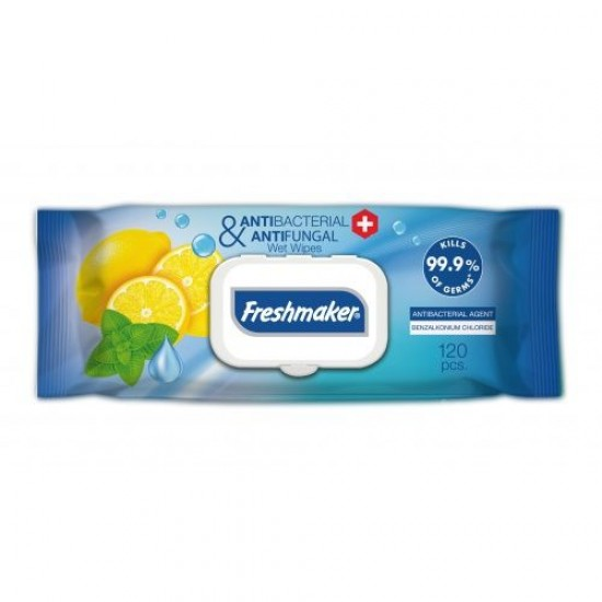 Freshmaker Antibacterial Wet Wipes (120 pcs)
