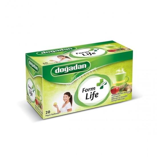 Doğadan Form Life Rosemary and Ginger Mixed Herbal Tea 20 Bags