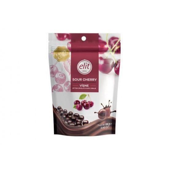 Elit Sour Cherry Chocolate Dragee (125 gr)
