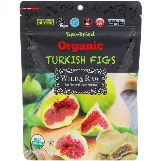 Wild Raw Organic Sun Dried Turkish Figs (170 gr)