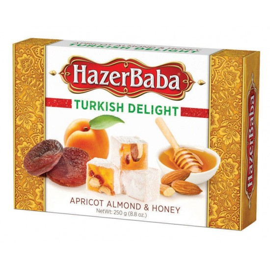 Hazerbaba Turkish Delight Apricot Almond&Honey (454 gr)