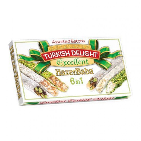 Hazerbaba Turkish Delight 6 in 1 (350 gr)