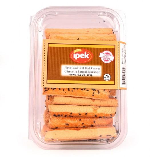 Ipek Finger Cookies with Black Caraway (300 gr)