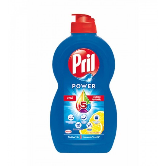 Pril Power Lemon Scented Dishwashing Liquid (430 gr)