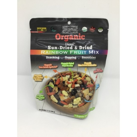 Wild&Real Organic Dried Rainbow Fruit Mix (100 gr)