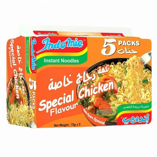 Indomie Instant Noodles Special Chicken Flavour 5 packs (75 gr*5)