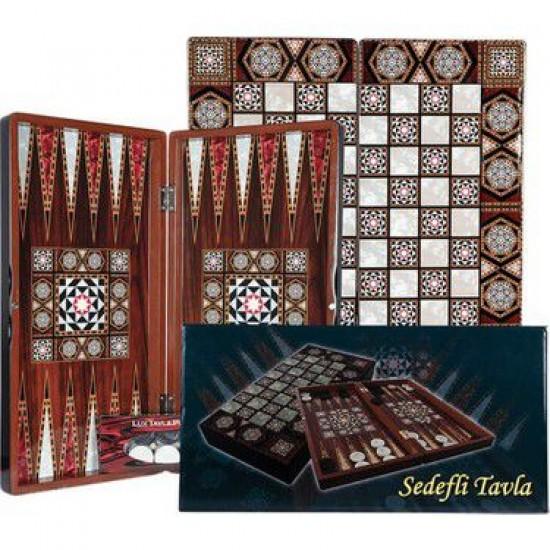 Pearlescent Backgammon Large Size Tavla