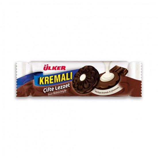 Ülker Cream Double Flavor Vanilla Flavored Chocolate (165 gr)